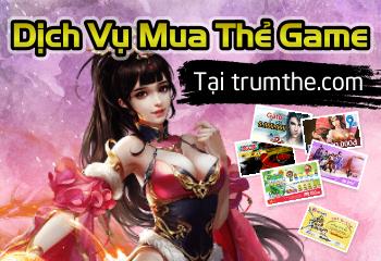 Dịch vụ mua thẻ game online tại trumthe.com