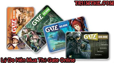 Lý Do Nên Mua Thẻ Gate Online Tại Trumthe.com