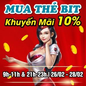 Mua thẻ BIT - Khuyến Mãi 10%