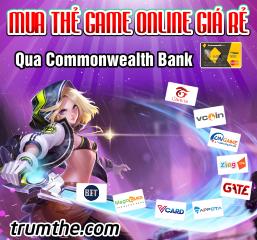 Hướng dẫn mua thẻ game qua Commonwealth Bank