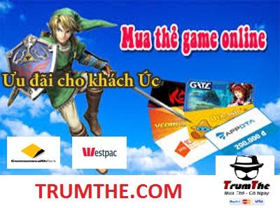 Thủ thuật Mua Thẻ Game Online khi ở Úc