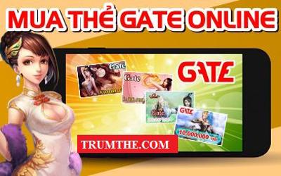 Hướng dẫn mua thẻ Gate online tại website Trumthe.com