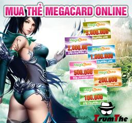 Mua thẻ megacard đa năng cho mọi game thủ