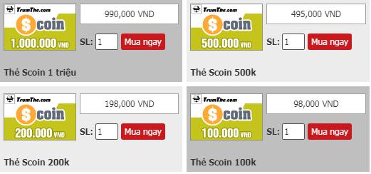 Thẻ Scoin là gì? Mua thẻ Scoin nạp vào những game gì?