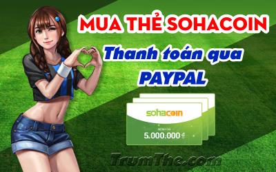Mua thẻ Sohacoin nhanh chóng bằng Paypal