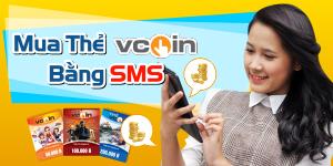 Cách mua thẻ Vcoin bằng SMS đơn giản và nhanh nhất