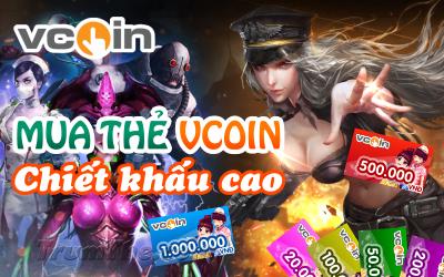 Ở đâu có thể mua thẻ Vcoin chiết khấu cao?