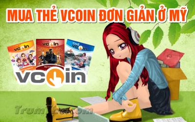 Hướng dẫn mua thẻ Vcoin siêu tốc khi ở Mỹ