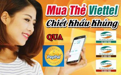 Mách bạn cách mua thẻ Viettel giá rẻ bằng Paypal