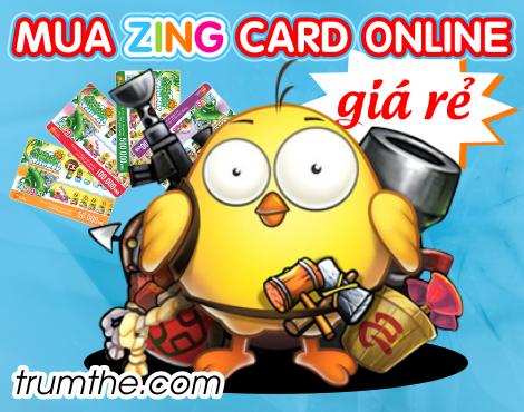 Mua zing card online giá rẻ qua Paypal