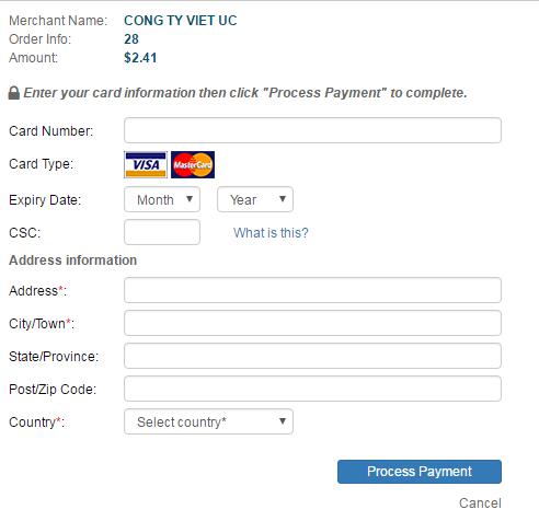 Mua thẻ game qua Visa/Mastercard khi ở nước ngoài