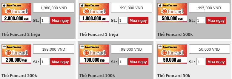 Thẻ Funcard là gì? Nạp game gì? Mua ở đâu uy tín?