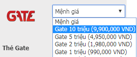 Địa chỉ nào để mua thẻ Gate uy tín và giá rẻ?