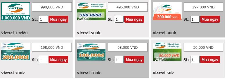 Hướng dẫn mua thẻ Viettel online nhanh chóng nhất
