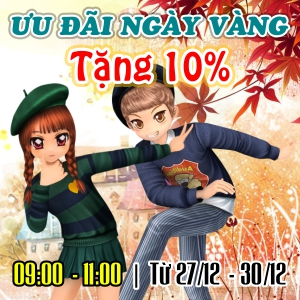 Mua thẻ BIT nhận Ưu Đãi Ngày Vàng - Tặng 10%