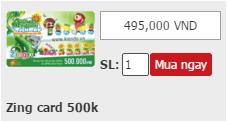Mua zing card giá rẻ qua Paypal