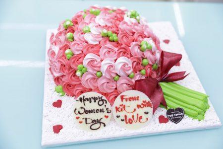 Bánh Kem 3D Hình Bó Hoa